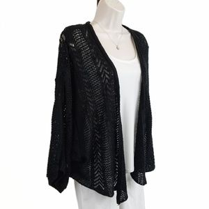 Torrid shrug crochet knit black 3X